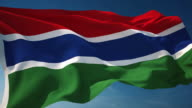 4K Gambia Flag - Loopable video