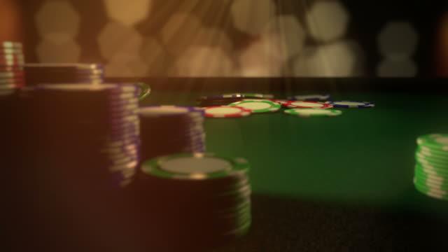 Gambling Chips Fall Animation video