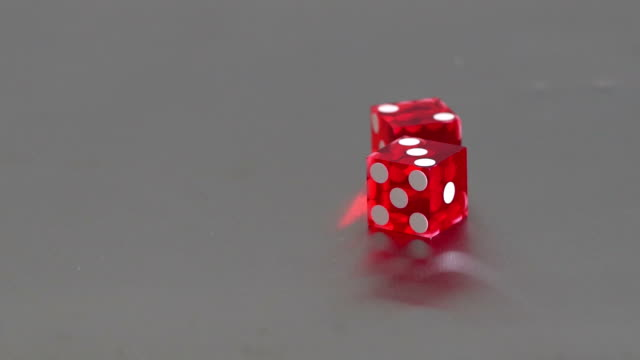 gambling multicolor dices video