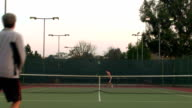 Game of tennis full court - HD video