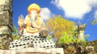 Ganesha at a Hindu Temple in Bali - A Cloud lapse video