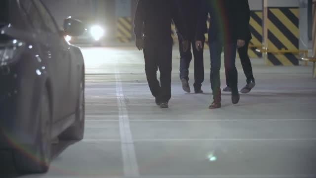 Gangsters Meeting in Parking Lot video