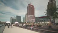 gantry plaza park walking bay 4k time lapse from new york video