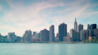 gantry plaza state park manhattan panorama view 4k time lapse from usa video