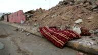 Garbage lies on the street in Aqaba, Jordan video