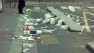 Garbage lying on the street. video