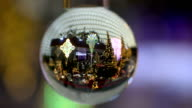 Garden Christmas Decoration Reflects in Crystal Ball video