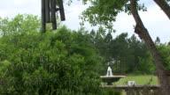 garden fountain chimes video