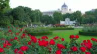 Garden near Hofburg Imperial Palace, Vienna, Austria video