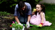 Gardening Mother and Child video