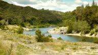 Gardon river at Pont du Gard, France video