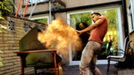 Gas Explosion. Barbecue Season Fire Safety Danger Warning video