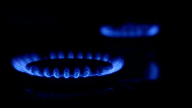 Gas fire. video