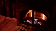 gas fireplace, medium shot video