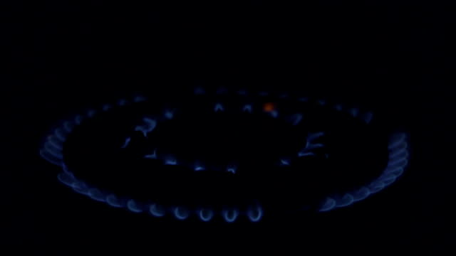Gas Hob In A Domestic Kitchen video