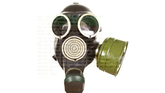 Gas mask sequence video