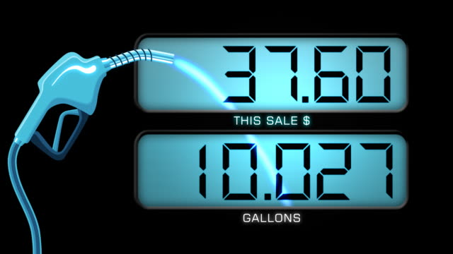 Gas Pump Animation & Counter - HD video