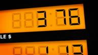 Gas pump display - gallons video