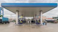 Gas station service, Dolly shot video