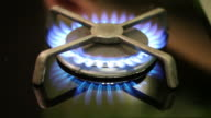 Gas stove firing video