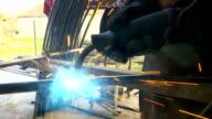 Gas welding of metal elements video