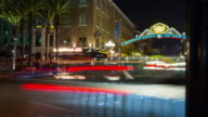 Gaslamp Quarter, Downtown San Diego, motion time lapse video