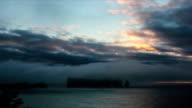 Gaspe Perce Rock Timelapse at Sunrise video