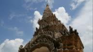 Gate decoration of Wat Phra That Lampang Luang,Thailand video