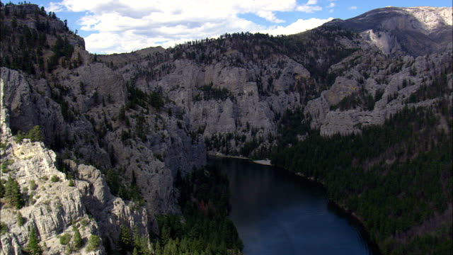 Gates of the Mountains - Aerial View - Montana, Lewis and Clark County, United States video