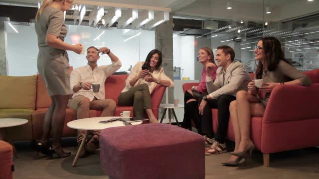 Gathering on a coffee break video
