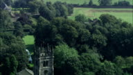 Gawsworth Old Hall - Aerial View - England, Cheshire East, Gawsworth, United Kingdom video