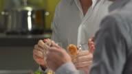 HD: Gay Couple Having Fun Eating Dinner video