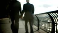 Gay men holding hands video