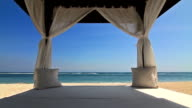 Gazebo on the beach video