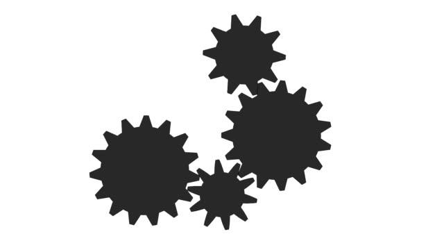 Gear icon complex video