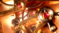 gear of a valuable gold watch video