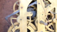 Gears of antique clocks. video