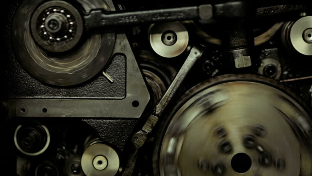 Gears On Old Printing Machine video