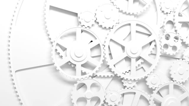 Gears rotating in looped animation. HD 1080. video