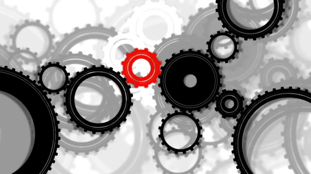Gears, seamless loop video
