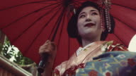 Geisha Maiko Walking Outdoor Slow Motion 4K video