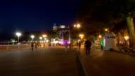 Gelendzhik city walk in the night hyperlapse video