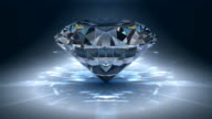 Gem jewelry rotating video