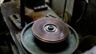 Gemstones grinding video