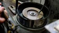 Gemstones grinding,Faceting machine video