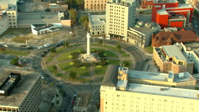 General Robert E Lee Memorial Aerial View New Orleans video