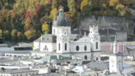 General view in the historical center of Salzburg video