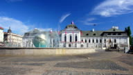 General view of square in front of Presidential Palace, Bratislava video