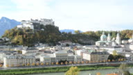 General view of the historical center in Salzburg video