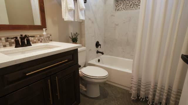 Generic Bathroom Look In Rising in Doorway video